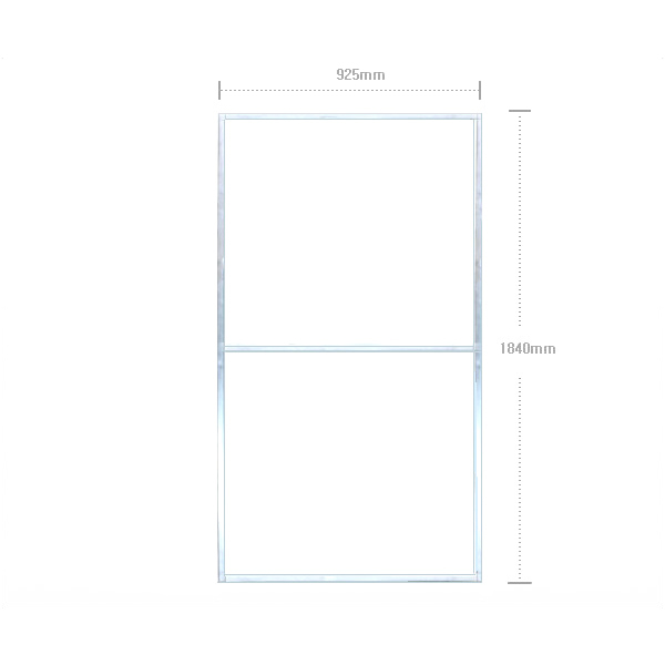 Steel Frame for Sign (90 x 180) zinc plating, 25 x 25 : MiraeSafety